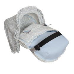 Saco Porta bebé Caramelo Azul. (capota no incluida)