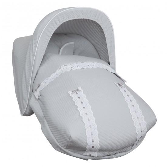 Saco Porta bebé Classic Gris (capota no incluida)