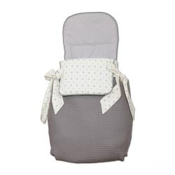 Saco 3 usos Little Star Gris