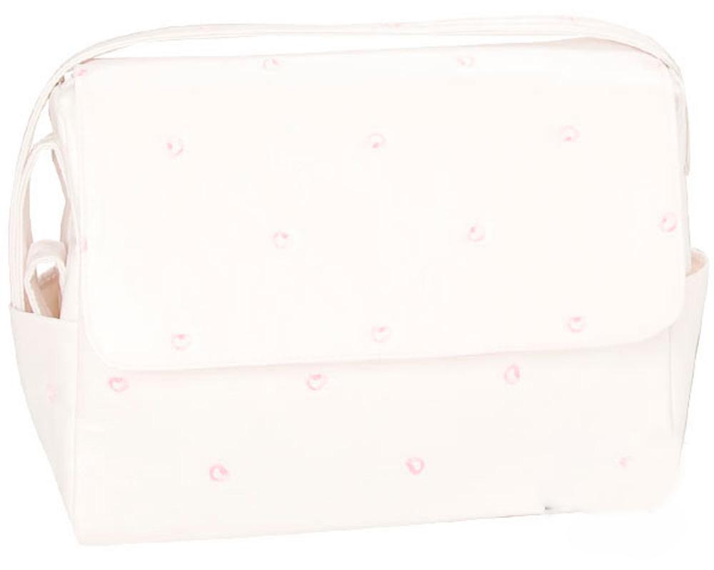 Bolso piqué Blanco Rosa