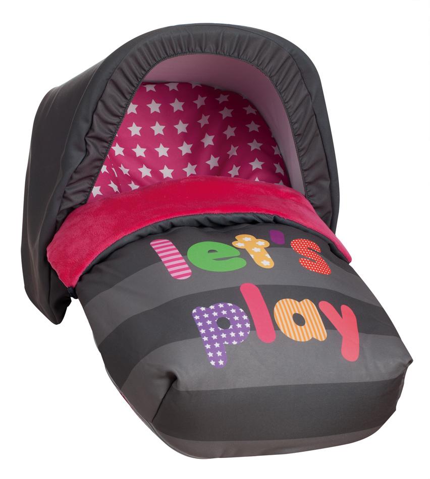 Saco Porta bebé Let's Play Rosa (capota no incluida)